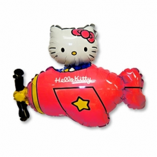 1207-3093 ф фигура/11 hello kitty на красном самолете